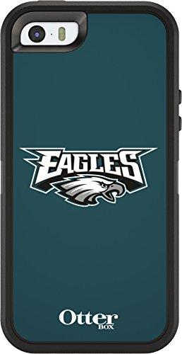 OtterBox DEFENDER SERIES Case for iPhone 5/5s/SE - Retail Packaging - NFL EAGLES (BLACK/NFL PHILADELPHIA EAGLES)