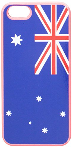 Graphics and More Australia Flag Snap-On Hard Protective Case for iPhone 5/5s - Non-Retail Packaging - Pink