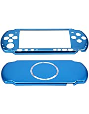 OSTENT Aluminum Hard Case Cover Shell Guard Protector Compatible for Sony PSP 3000 Slim Console Color Light Blue