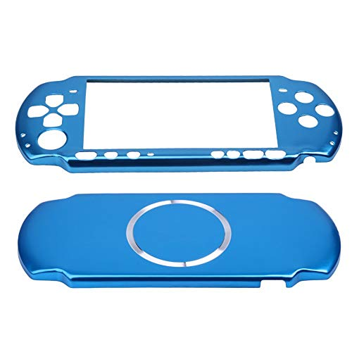 Psp Protective Cover - OSTENT Aluminum Hard Case Cover Shell Guard Protector Compatible for Sony PSP 3000 Slim Console Color Light Blue