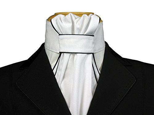Equi Logic Dressage Ruffled Stock Tie with Piping
