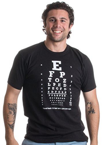 Optometry Eye Test | Funny Science Teacher Icebreaker Party Trick Unisex T-shirt