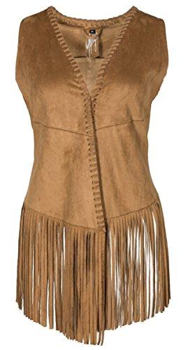 Damen Gipsy Weste Wildleder Vintage 70er Jahre Style Selda SL
