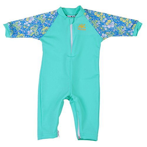- Nozone Fiji Sun Protective Baby Girl Swimsuit Fun Prints in Aquatic/Aloha, 18-24 Months