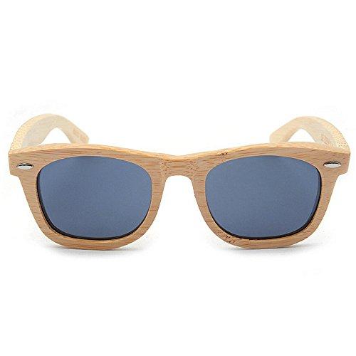 Madera de al Ultravioleta Hombres vidrios Protección de los la de Sol SunglassesDY a Gray Gafas Mano Dongy Gray polarizadas Hecha Color los Libre de Vendimia Aire nx8wqnpXT