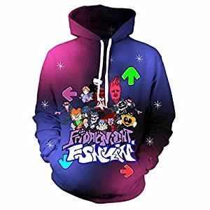 【UNIQUE DESIGN】Realistic Friday Night Funkin Hoodie for kids pullover, Hood And Large Front Pockets. Feels Smooth And Smooth, Soft,Light Texture And designs funny. 【HIGH QUALITY】The clothes are made of polyester fiber, Soft Fabrics, Close To Your Skin, Make Your Skin Feel More Comfortable. 【EVERYDAY COMFORT】clothes gets rid of moisture, sweat, and water leaving no room for any discomfort. our tee shirts dry quickly so your little one feels comfortable and cool after playing with his friends.