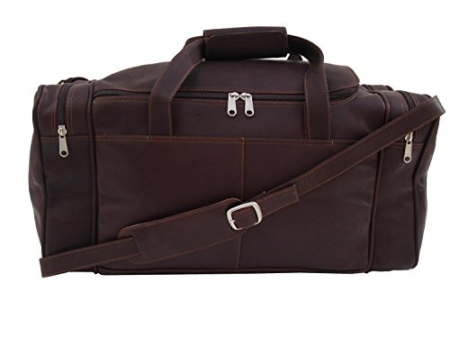 Piel Leather Small Duffel Bag in Chocolate