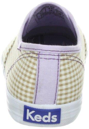 Keds Donna Campione Sneaker Di Moda Senza Tasche Percalle, Tan / Bianco, 5 M Us