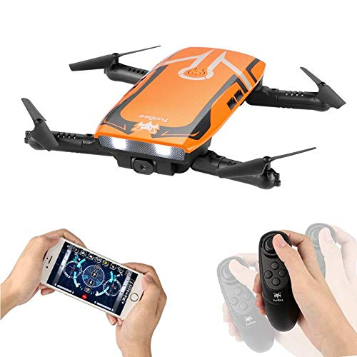 RC Quadcopter with 720P HD Wi-Fi Camera, FPV Mini Drone H818 Selfie Drone Foldable with Protective Case Gravity Sensor Control...