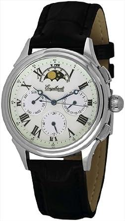 Engelhardt Herren Automatik Uhr mit echter Mondphase