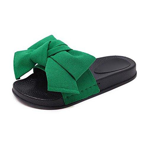 men Summer Fashion Platform Flat Slippers Slides Slip On Casual Beach Shoes,green1,9.5 ()