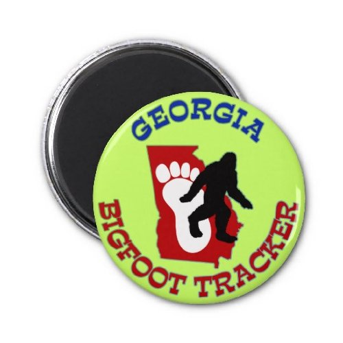 Georgia Bigfoot Tracker Fridge Magnet
