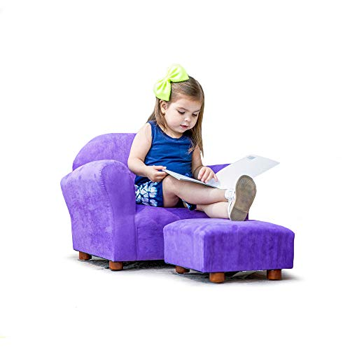 Roundy Childrens Chair Microsuede Purple with -