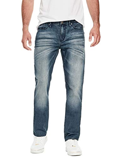 GUESS Factory Men's Crescent Straight Jeans ()