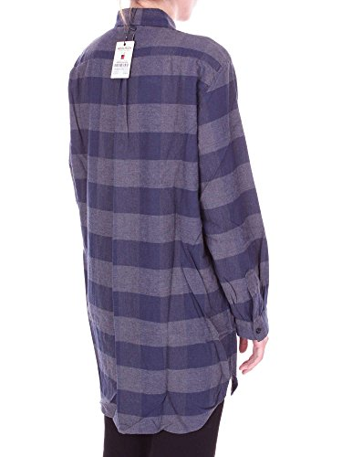 E Camicia Blu Grigio Donna Wwcam0626fl03 Woolrich WR4aqa