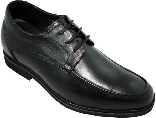 Calden K312316-2,6 Pollici Taller - Scarpe Ad Altezza Aumentata (pelle Nera Super Leggera Allacciata)