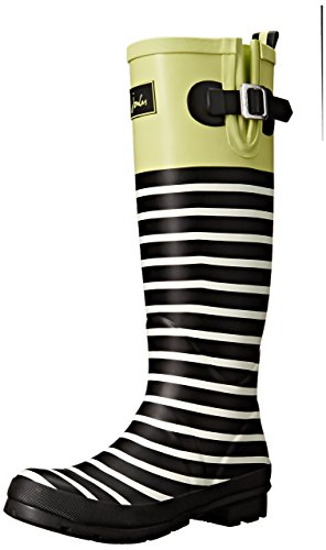Joules Women's Wellyprint, Lime Block, 6 M US