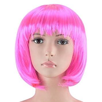 Peluca Con Flequillo Cabaret peluca Pelo corto Charleston para mujer, Hombre y Niños - Bob rosa claro, Einheitsgröße, talla única: Amazon.es: Juguetes y ...