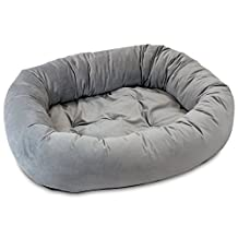 Oliver & Iris Bolster Donut Lounge Dog Bed, Small, Steel Grey