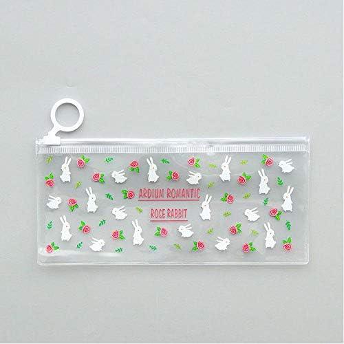 ASCZFAS bolsa de lápiz Misteriosas flores pequeñas animales PVC a prueba de agua estuches de lápices Papelería Almacenamiento Oficina Útiles escolares Lápices Bolsas para niñas C: Amazon.es: Oficina y papelería