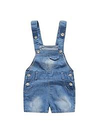 Kidscool Summer Baby Boys/Girls Cute Adjustable Bib Denim Shortalls
