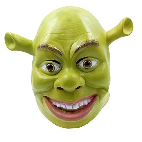 Shrek Mask Shrek Gloves Green Mask Shrek Mask Latex Halloween Cosplay Masquerade Carnivals Party Full Head (Mask)