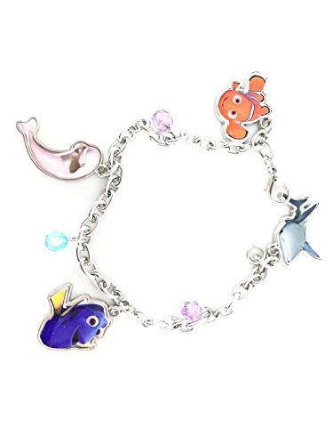 (Finding Dory 7 Charm Bracelet with 2mm metal charms and jelly faceted by Finding)