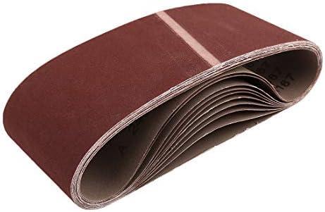 - 4 x 24 inch sanding belts, 240 aluminum oxide sandpaper grits, portable belt sander, 10 pieces