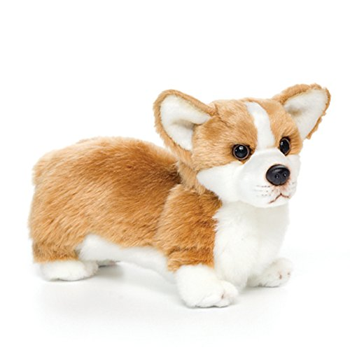 Small Corgi Dog Honey Brown with White Children's Plush Stuffed Animal -