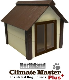 Climate Master Plus Insulated Dog House w Door - Large
