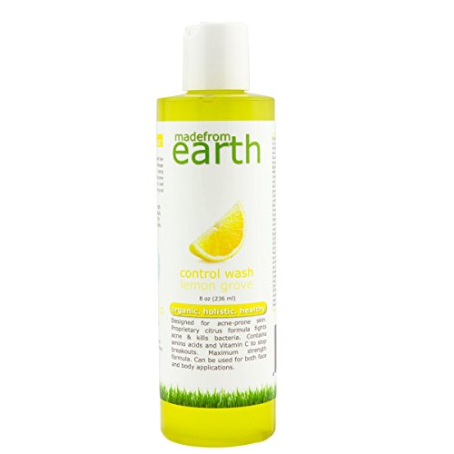 Control Acne Face Wash w/Organic Plant Based Citrus, Vitamin C & MSM