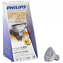 Philips Lighting 418418 3 Watt LED MR16 Indoor Flood Light Bulb