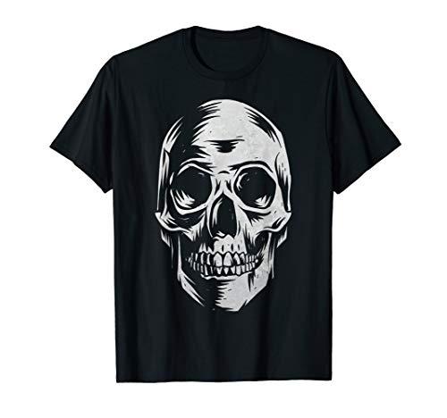 Skull T-Shirt - Distressed Vintage Design for Halloween]()