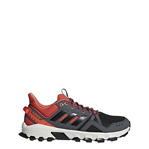 Adidas Rockadia Trail - Zapatillas de Running para Hombre, Grey-Core Black-Raw Amber, 9.5 M US