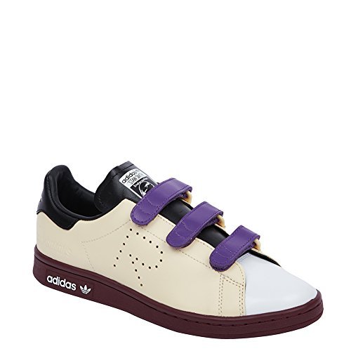 Adidas X Raf Simons Women's Stan Smith CF Sneakers BB2679 W Mist Sun/Black/Maroon SZ 7 (US)