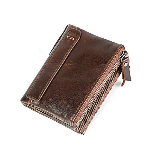 Baellerry Women RFID Blocking Wallet Small Vintage Cowhide Leather Wallet For Women (Blue) (Coffee)