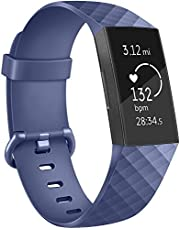 Tracca Replacement Strap Bands for Fitbit Charge 3 Wristband Spare Silicone Watchband
