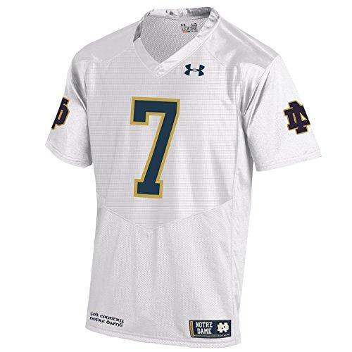Under Armour NCAA Notre Dame Fighting Irish Men's Premier Sideline Replica #7 Jersey, Large, White
