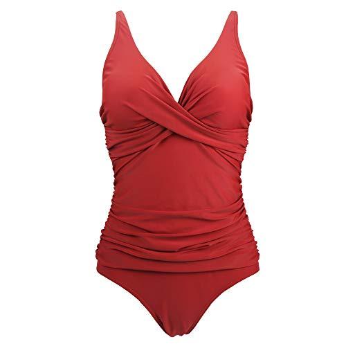 Viloree Damen Monokini Bauchweg Schlankheits Badeanzug Plus Size Badebekleidung Bauchweg für Mollige