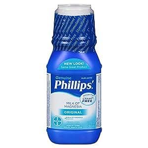 Amazon Com Phillips Milk Of Magnesia Laxative Antacid