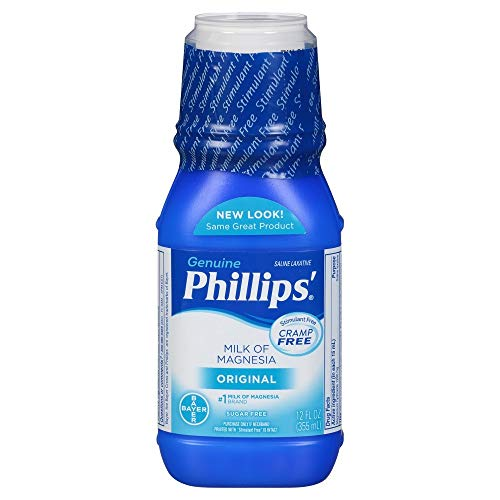 Phillips' Milk of Magnesia Laxative/Antacid, Liquid, Original, 4 fl oz (118 ml) - Packaging May Vary