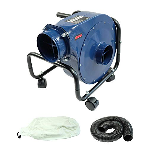 KASTFORCE KF6002 Industrial Portable Dust Collector13 Gal with 2 Micron Dust Bag Max 650 CFM Air Flow