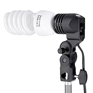 "Neewer 200W 5500K Continuous Lighting Umbrella Kit for Photo Studio Video Shooting,includes:(1)74.8""/190cm Light Stand+(1)Single Head Light Holder+(1)45W Daylight Bulb +(1)33""/84cm White Umbrella"