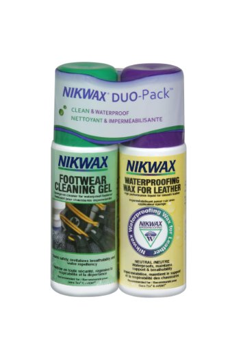 Nikwax Smooth Leather Footwear Clean/Waterproof Duo Pack (Nikwax Waterproofing Wax)