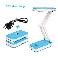 Armyshop Folding 24 LED Desk Lamp Bedside Lights Portable Reading Touch Modern Table Lamp