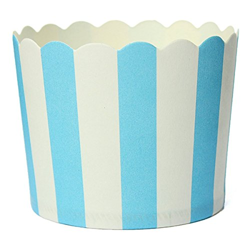 (SODIAL(R)50 X Cupcake Wrapper Paper Cake Case Baking Cups Liner Muffin Dessert Baking Cup,Blue)