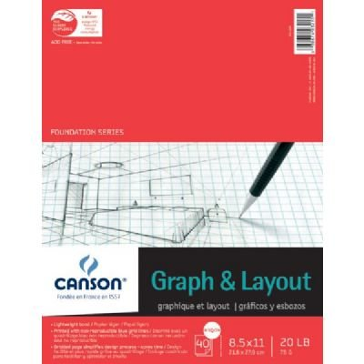GRAPH AND LAYOUT CROSS SECTION 8/8 GRID 8.5X11