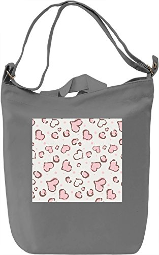 Lips Kiss Pattern Borsa Giornaliera Canvas Canvas Day Bag| 100% Premium Cotton Canvas| DTG Printing|