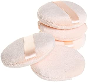 Pengxiaomei 5 piece Powder Puff, 2.95 Inch Round Soft Sponge Powder Puffs Cosmetic Makeup Powder Puffs (Random Color)