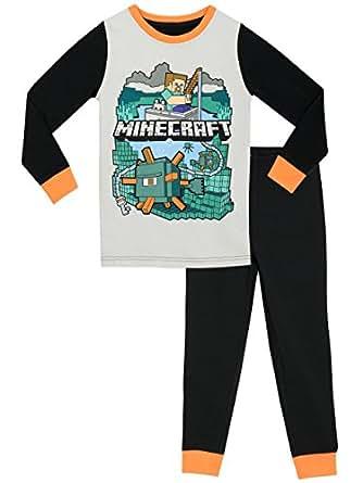 vente au royaume uni livraison gratuite inégale en performance Minecraft Boys Pajamas